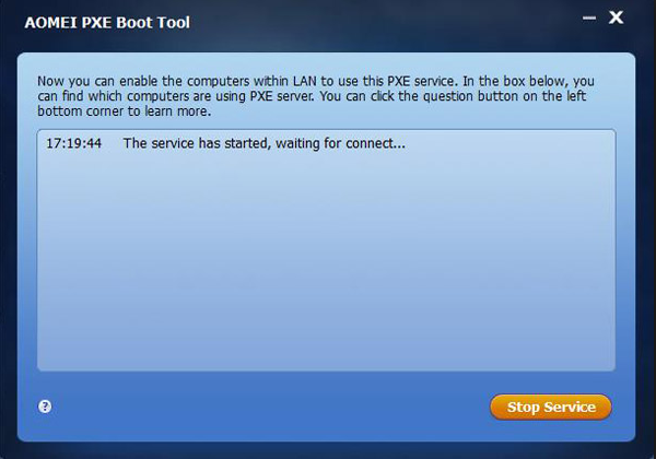 AOMEI PXE Boot Tool screenshoot 1