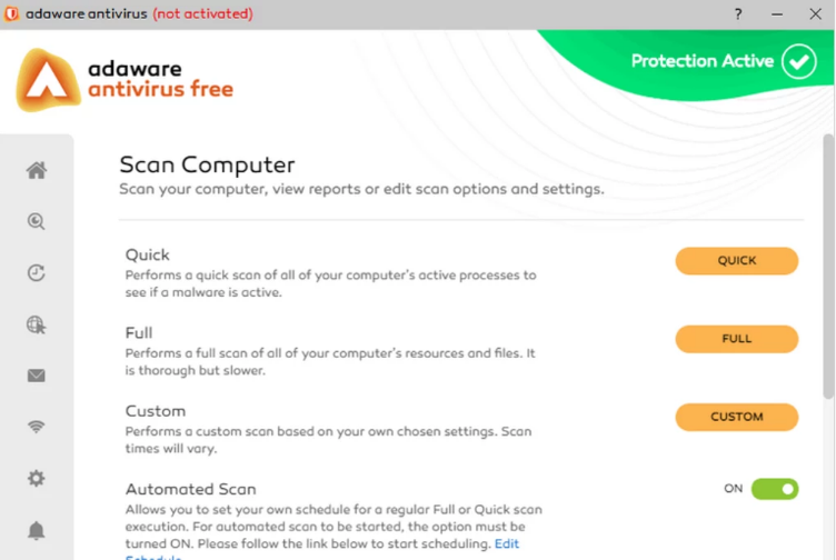 Adaware Antivirus screenshoot 1