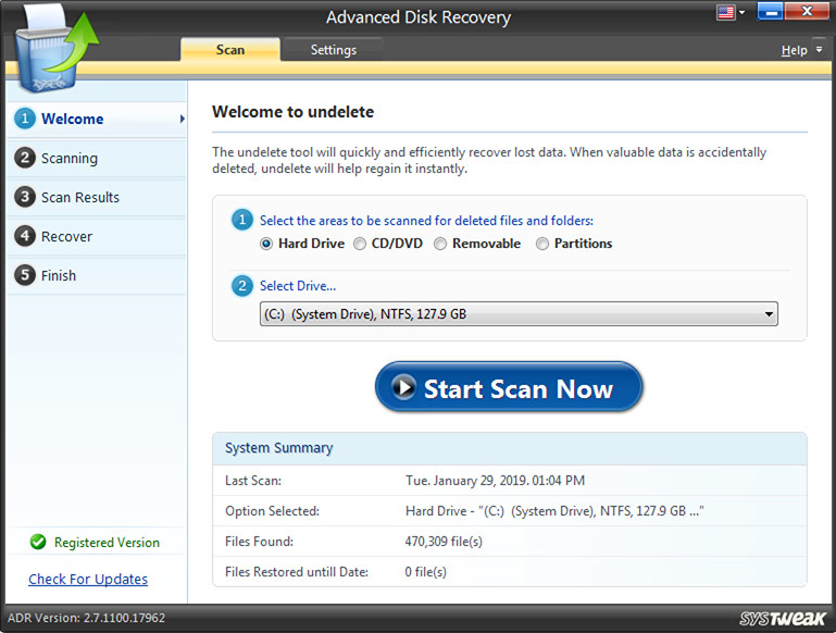 Advanced Disk Recovery screenshoot 1