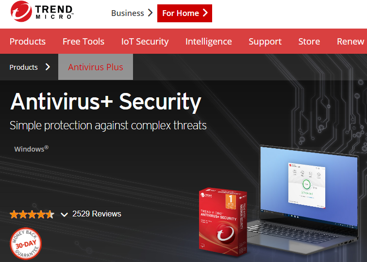 Trend Micro Antivirus screenshoot 1