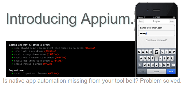 Appium screenshoot 1