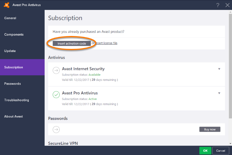 Avast Pro Antivirus screenshoot 1