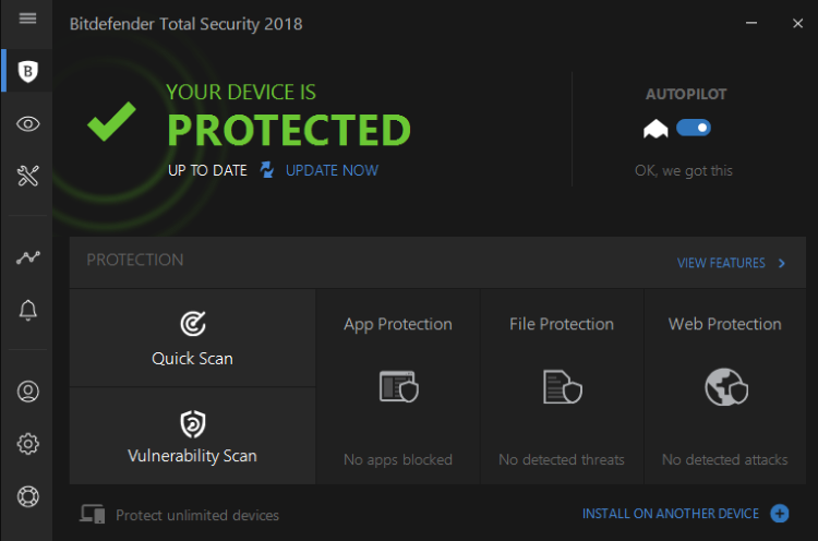 Bitdefender Internet Security screenshoot 1