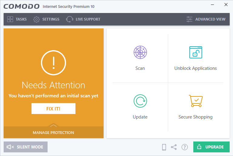 Comodo Internet Security screenshoot 1
