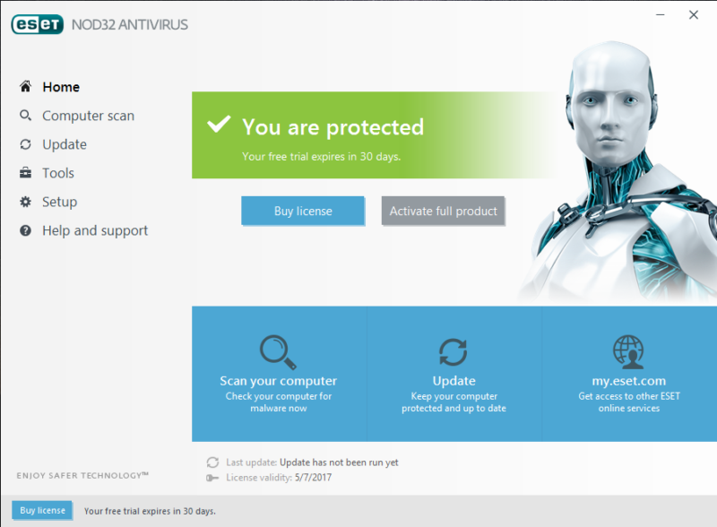 ESET NOD32 Antivirus screenshoot 1