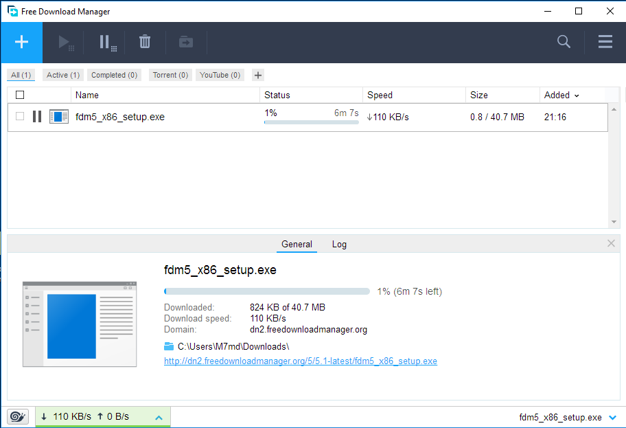 Free Download Manager screenshoot 1