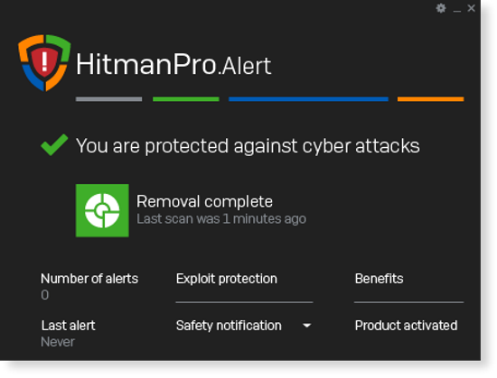 HitmanPro.Alert screenshoot 1