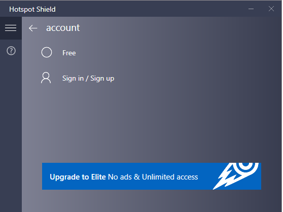 Hotspot Shield screenshoot 1