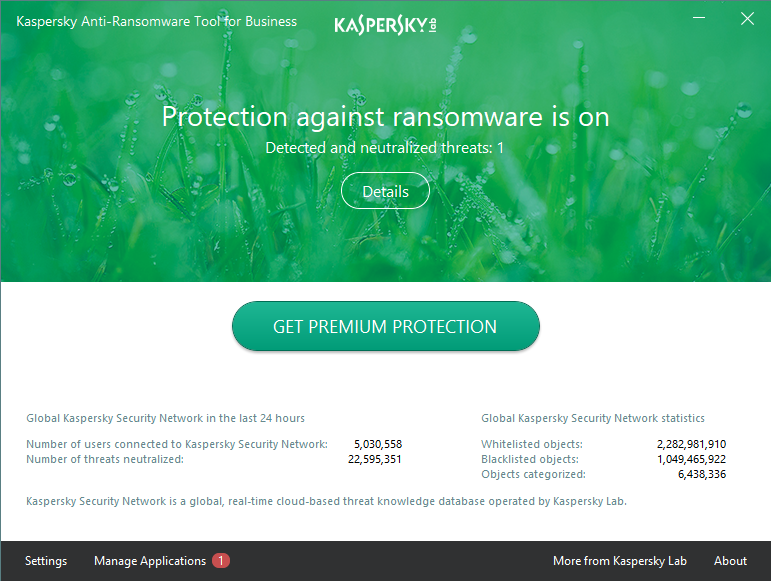 Kaspersky Anti-Ransomware Tool for Business screenshoot 1