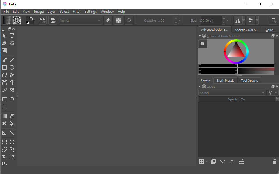 Krita screenshoot 1