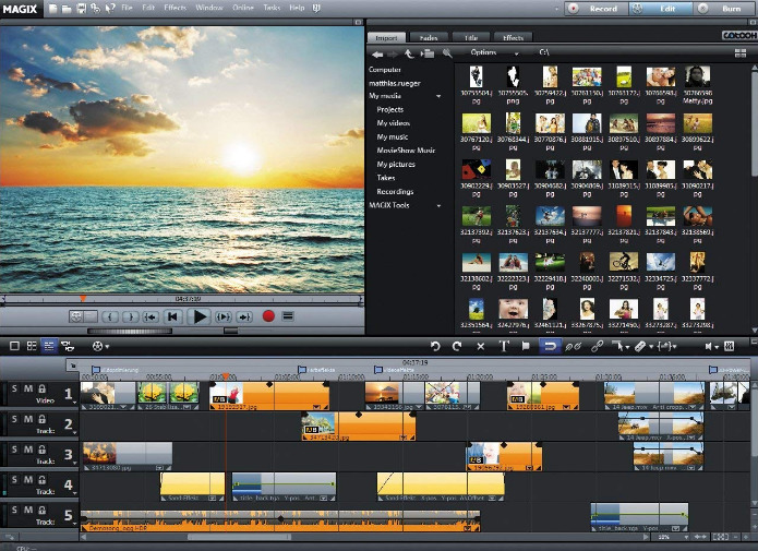 MAGIX Movie Edit screenshoot 1