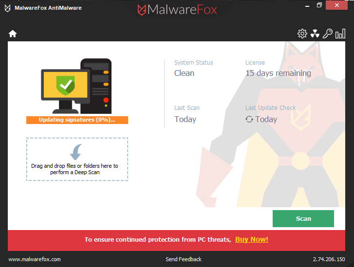 MalwareFox AntiMalware screenshoot 1