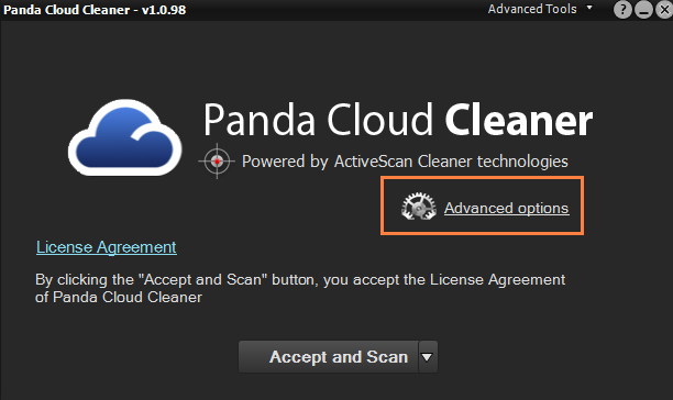 Panda Cloud Cleaner screenshoot 1