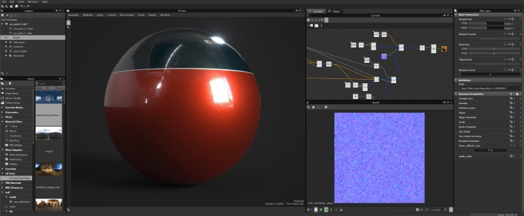 Substance Designer screenshoot 1