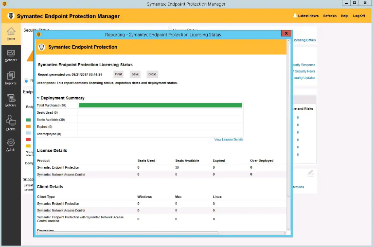 Symantec Endpoint Protection screenshoot 1