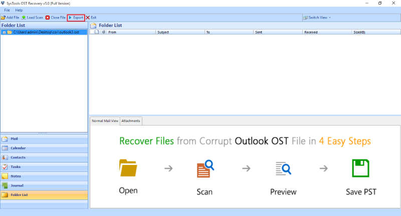 SysTools OST Recovery screenshoot 1