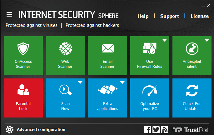 TrustPort Internet Security Sphere screenshoot 1