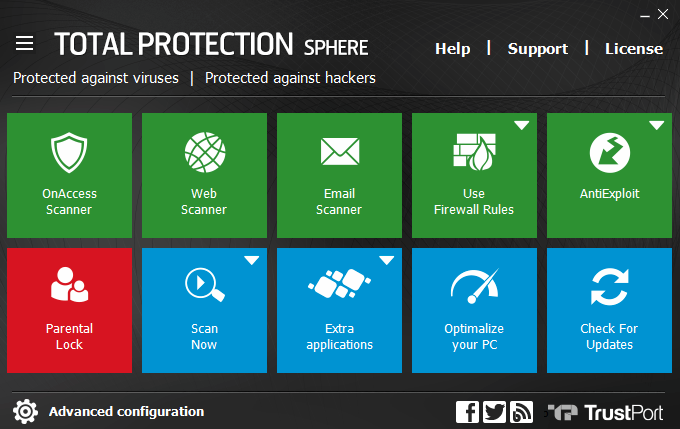 TrustPort Total Protection Sphere screenshoot 1