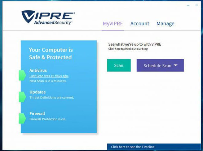 VIPRE Advanced Security screenshoot 1