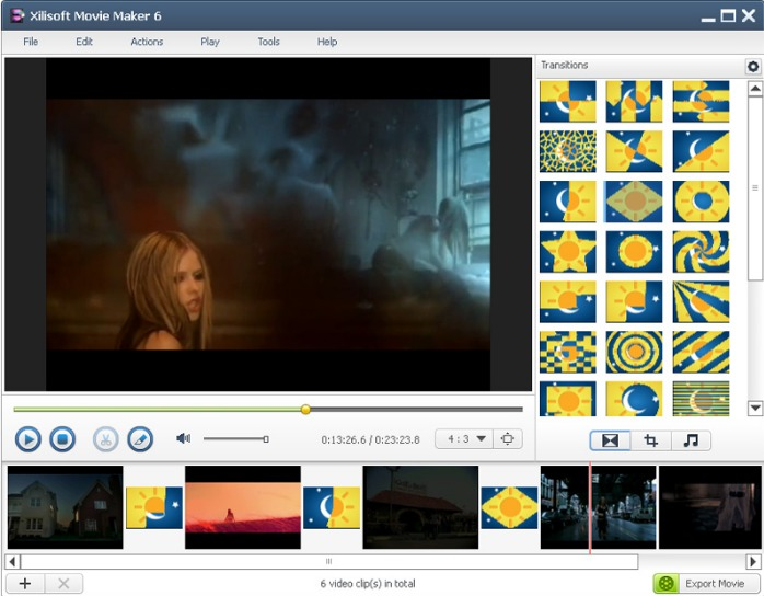 Xilisoft Movie Maker screenshoot 1