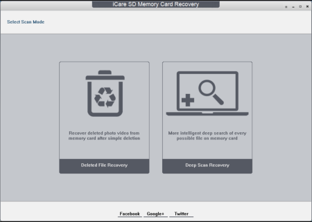 iCare SD Memory Card Recovery screenshoot 1